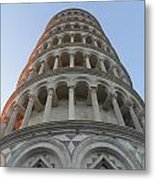 Pisa Leaning Tower At Sunset Tuscany Metal Print