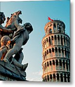 Pisa, Leaning Tower, Tuscany, Italy Metal Print