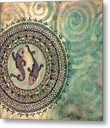 Pisces Mandala Metal Print
