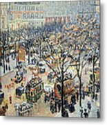 Pissarro's Boulevard Des Italiens In Morning Sunlight Metal Print