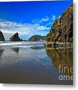 Pistol River Sea Stacks Metal Print by Adam Jewell