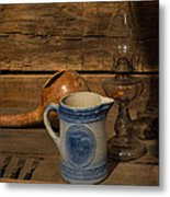 Pitcher Cup And Lamp Metal Print