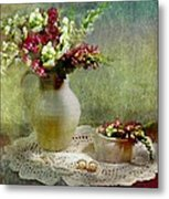 Pitcher Of Snapdragons Metal Print by Diana Angstadt