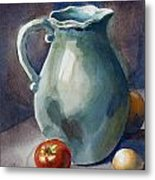 Pitcher With Tomato Metal Print by Pablo Rivera