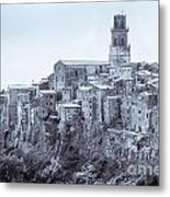 Pitigliano  Stands On An Abrupt Tuff Butte High Above The Olpeta Metal Print