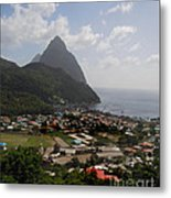 Pitons St. Lucia Metal Print