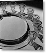 Pitt Petri Tableware Metal Print