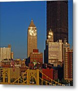 Pittsburg At Dusk Metal Print