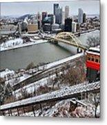 Pittsburgh Duquesne Incline Winter Metal Print