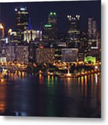 Pittsburgh After The Setting Sun Metal Print