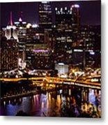Pittsburgh At Night Metal Print