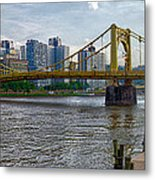 Pittsburgh Clemente Bridge Metal Print