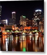 Pittsburgh Panorama Metal Print by Frozen in Time Fine Art Photography