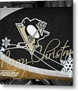 Pittsburgh Penguins Christmas Metal Print