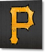 Pittsburgh Pirates Baseball Vintage Logo License Plate Art Metal Print
