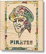 Pittsburgh Pirates Vintage Art Metal Print