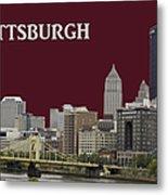 Pittsburgh Poster Metal Print