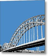 Pittsburgh Skyline 16th St. Bridge - Slate Metal Print