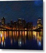 Pittsburgh Skyline 2 Metal Print by  Fli Art