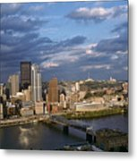 Pittsburgh Skyline At Dusk Metal Print