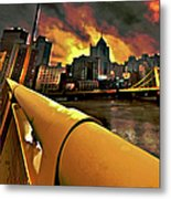 Pittsburgh Skyline Metal Print