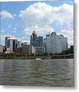 Pittsburgh Skyline From The Waterfront Metal Print