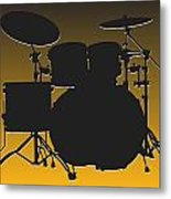 Pittsburgh Steelers Drum Set Metal Print