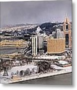 Pittsburgh's First Snow Of 2015 Metal Print