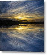 Pittwater Sunset Abstract Metal Print