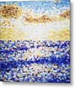 Pixelated Sunset Metal Print