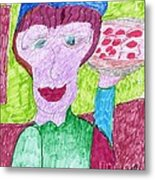 Pizza Anyone Metal Print by Elinor Rakowski