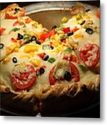 Pizza Pie - 5d20700 - Square Metal Print by Wingsdomain Art and Photography