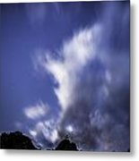 Pl Mountain And Clouds Metal Print