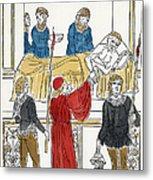 Plague Patient, 1500 Metal Print