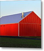 Plain Jane Red Barn Metal Print