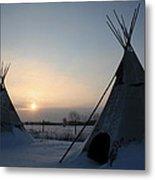 Plains Cree Tipi Metal Print