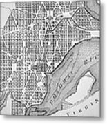 Plan Of The City Of Washington As Originally Laid Out In 1793 Metal Print