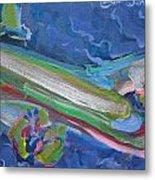 Plane Colorful Metal Print
