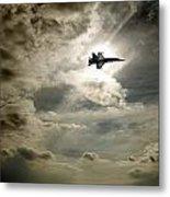 Plane In Flight Metal Print
