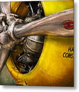 Plane - Pilot - Prop - Twin Wasp Metal Print by Mike Savad