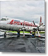 Plane Props On Capital Airlines Metal Print