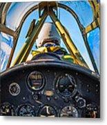 Plane Ride Metal Print