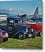 Planes And Cars Metal Print