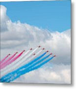 Planes Fly In Airshow Metal Print