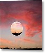 Planet And Sunset Metal Print