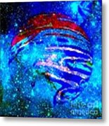 Planet Disector Blue/red Metal Print