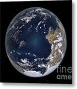 Planet Earth 600 Million Years Ago Metal Print