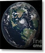 Planet Earth 90 Million Years Ago Metal Print by Walter Myers