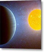 Planet Kepler10 Stellar Family Portrait Metal Print