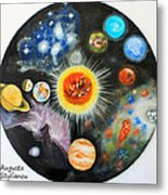 Planets And Nebulae In A Day Metal Print